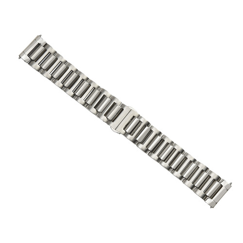 22MM SOLID WATCH BAND FOR OMEGA SPEEDMASTER MOON SHINY CENTER STAINLESS STEEL