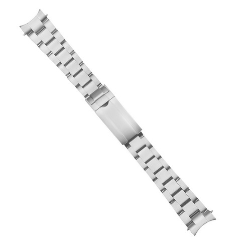 20MM SOLID OYSTER WATCH BAND FOR ROLEX SUBMARINER WITH GLIDE LOCK MATTE S/STEEL