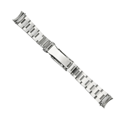 20MM OYSTER WATCH BAND FOR MEN INVICTA 89260B WATCH GLIDE LOCK CENTER SHINY