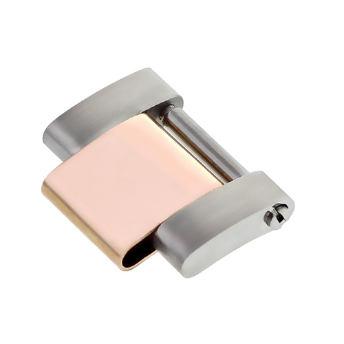 LINK OYSTER WATCH BAND FOR ROLEX 16013,16800,16610,16600 18K/SS REAL ROSE GOLD