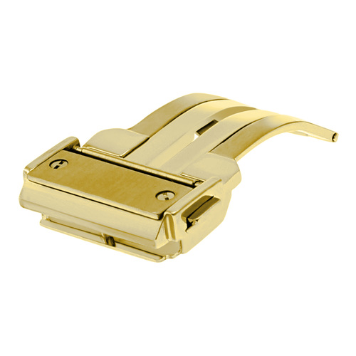 24MM DEPLOYMENT CLASP STRAP FOR 44-45MM HUBLOT BIG BANG FUSION PUSH BUTTON GOLD