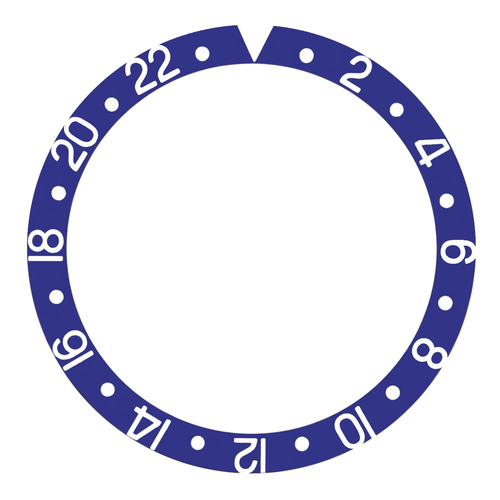 BEZEL INSERT FOR 40MM INVICTA PRO DIVER WATCH BLUE SILIVER FONTS TOP QUALITY