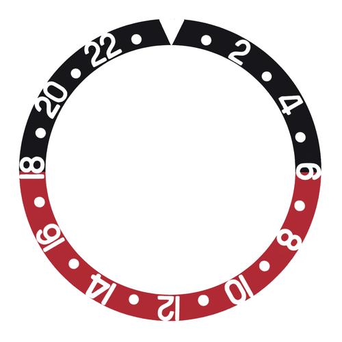 BEZEL INSERT FOR INVICTA 40MM INVICTA WATCH 8926OB 8928 9937 PRO DIVER BLACK/RED