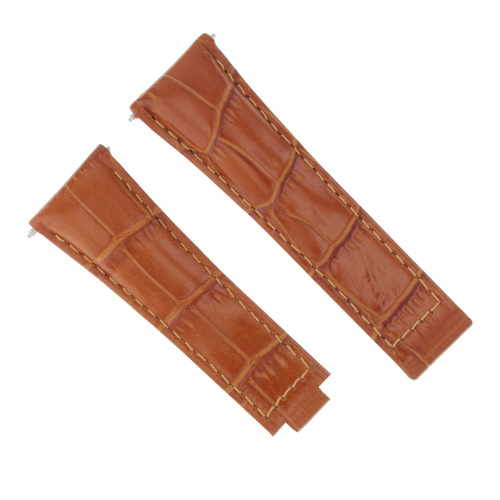 LEATHER WATCH STRAP BAND FOR ROLEX DAYTONA 116518 116519 116520 116528 TAN SHORT
