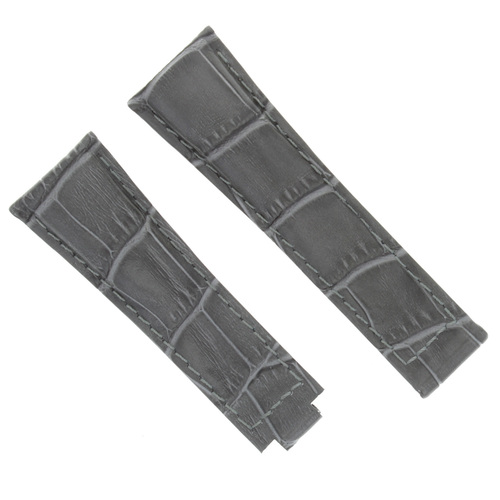 20MM LEATHER STRAP WATCH BAND FOR ROLEX DAYTONA 16518 16519 16520 GREY SHORT