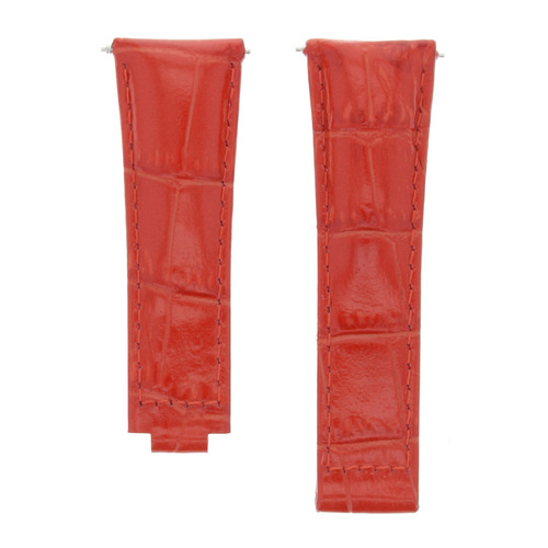 20MM LEATHER STRAP WATCH BAND FOR ROLEX DAYTONA 116518 116519 116528 RED SHORT