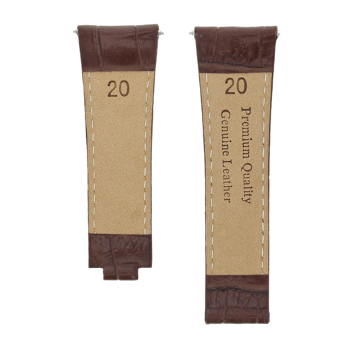 LEATHER WATCH STRAP BAND FOR ROLEX DAYTONA 16518 16519 16520 16523 16528 L/BROWN