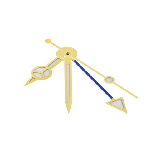 WATCH HAND FOR ETA 2836-2 2846 2892-2 2893-2 2892.A2 WATCH BLUE GMT GOLD