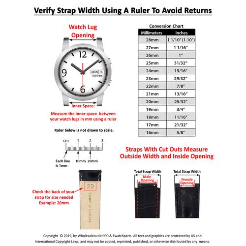 WATCH HAND FOR TUDOR DAYTONA WATCH MOVEMENT ETA 2892-17 AUTOMATIC CHRONO SILVER
