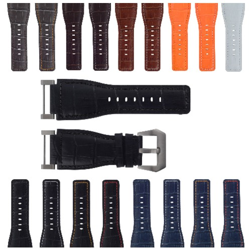 24MM SUUNTO CORE REPLACEMENT LEATHER WATCH BAND STRAP + STAINLESS STEEL ADAPTER