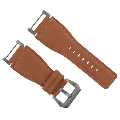 24MM SUUNTO CORE REPLACEMENT SMOOTH LEATHER WATCH BAND STRAP + STAINLESS ADAPTER
