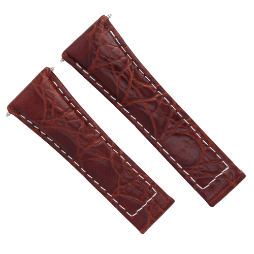 20MM CROC LEATHER WATCH BAND STRAP FOR ROLEX DAYTONA 16518, 116519 W/ ENDPIECES
