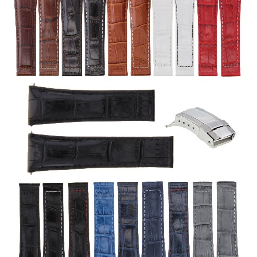 20MM LEATHER BAND STRAP FOR ROLEX DAYTONA 16518 16519 16520 116518 + STEEL CLASP