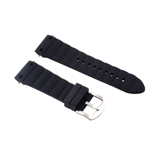24MM SILICONE WATCH BAND RUBBER STRAP FOR FIT CARTIER WATCH BLACK