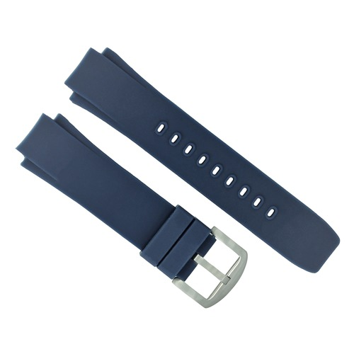 SILICONE RUBBER BAND STRAP FOR IWC 35380 354807 353804 DUAL CROWN AQUATIMER BLUE