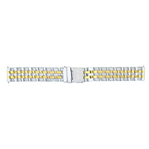 18MM WATCH BAND FOR BREITLING PILOT COLT BENTLEY NAVITIMER  WATCH TWO TONE