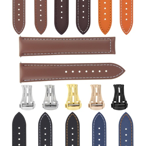 18-19-20-22-24MM LEATHER STRAP BAND FOR OMEGA SEAMASTER SPEEDMASTER WATCH BUCKLE