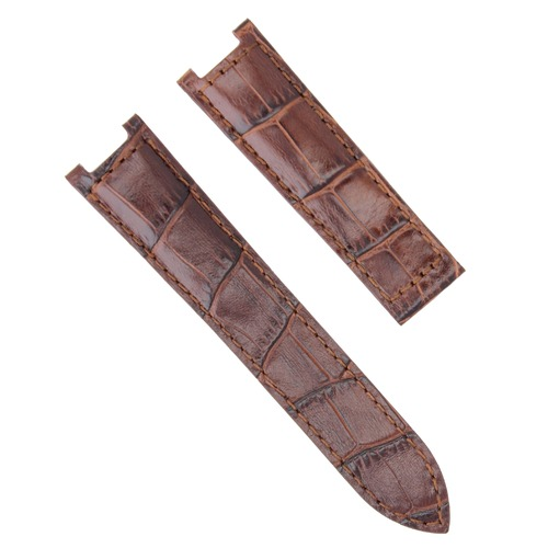 21MM LEATHER WATCH BAND STRAP FIT 42MM CARTIER PASHA 2727 2995 CHRONOGRAPH BROWN