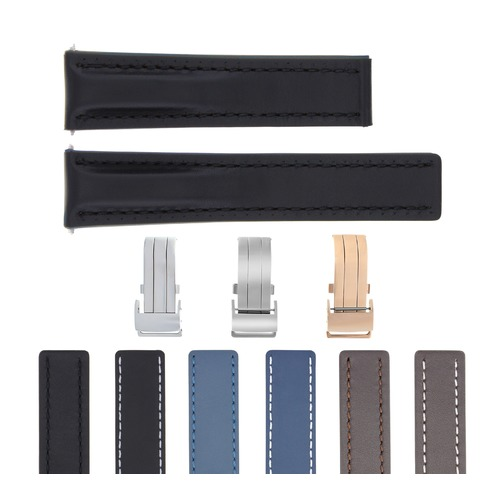 22-24MM LEATHER WATCH STRAP SMOOTH FOR BREITLING NAVITIMER BENTLEY WATERPROOF