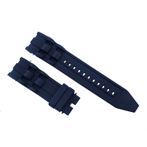 26MM RUBBER WATCH BAND FOR INVICTA DIVER 6977 6978 6981 6983 RESERVE SQUABA BLUE