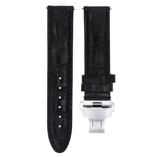 19MM & 20MM  GENUINE LEATHER WATCH BAND STRAP FOR ROLEX WATCH DEPLOYMENT CLASP