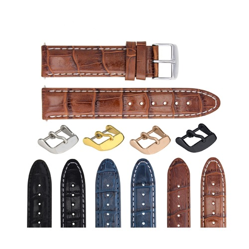 18-19-20-22-24MM  GENUINE LEATHER WATCH BAND STRAP FOR ANY BRAND WATCH