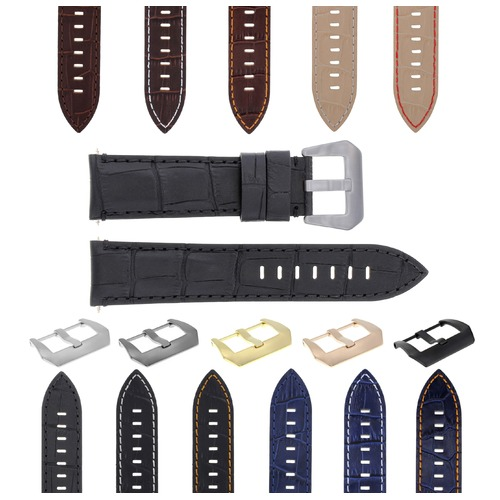 22-24MM LEATHER WATCH BAND STRAP FOR MONTBLANC TIMEWALKER CHRONO WATCH TOP QLTY