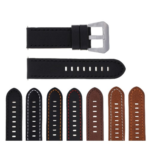 20-22-24MM LEATHER WATCH BAND STRAP FOR BREITLING NAVITIMER, BENTLEY PILOT WATCH