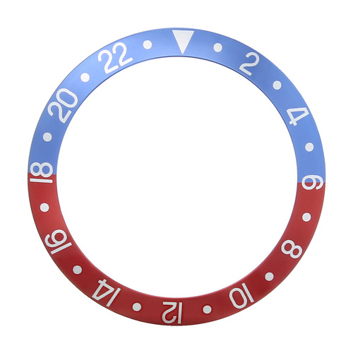REPLACEMENT BEZEL INSERT BLE/RED FADED FOR WATCH 37.70MM X 30.70MM