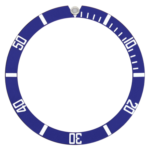 ALUMINUM BEZEL INSERT FOR INVICTA IN29177 PRO DIVER WATCH 38 X 32 BLUE SILVER