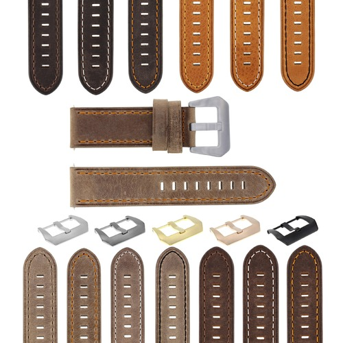20-22-24MM LEATHER WATCH BAND STRAP FOR BREITLING CHRONOMAT BENTLEY COLT WATCH