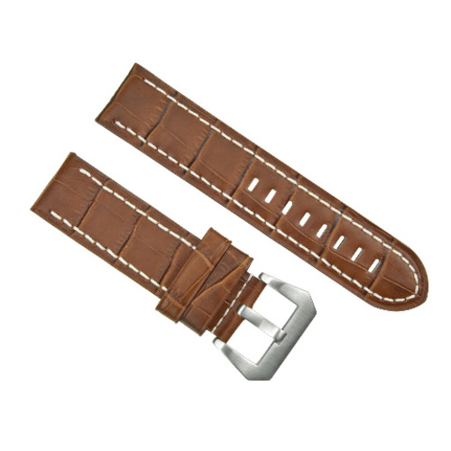 24MM GENUINE COW LEATHER WATCH BAND STRAP FOR  BREITLING CHRONOMAT BENTLEY COLT