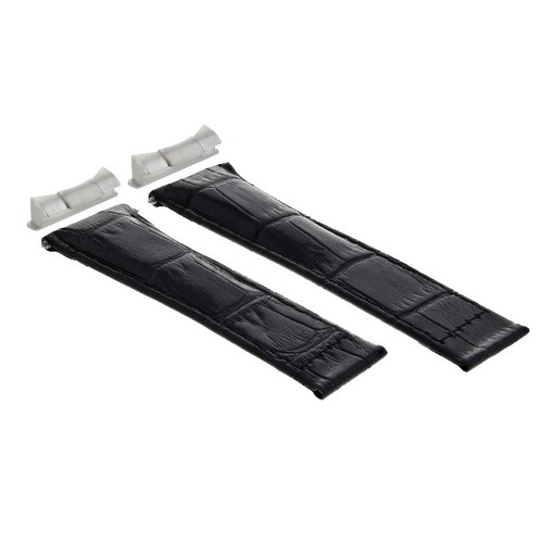 20MM LEATHER WATCH BAND STRAP FITS ROLEX SUBMARINER, GMT, DATEJUST WATCH