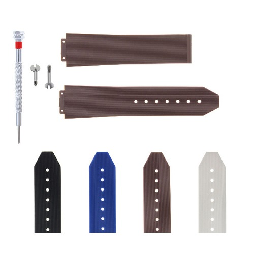 21-24-25MM RUBBER SILICONE WATCH BAND STRAP FOR H HUBLOT + 2 SCREW + SCREWDRIVER