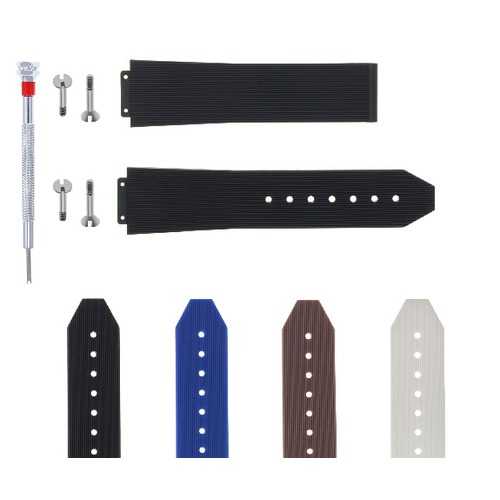 21-24-25MM RUBBER SILICONE WATCH BAND STRAP FOR H HUBLOT W/4 SCREW + SCREWDRIVER