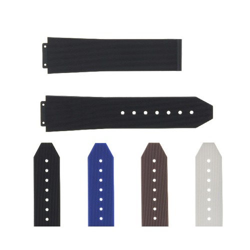 21-24-25MM RUBBER SILICONE WATCH BAND STRAP DEPLOYMENT CLASP FOR H HUBLOT WATCH