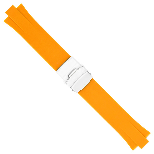 NEW 23MM 11MM TOP QUALITY SOFT PU RUBBER DIVER STRAP BAND SMOOTH FIT ORIS TT2 F1