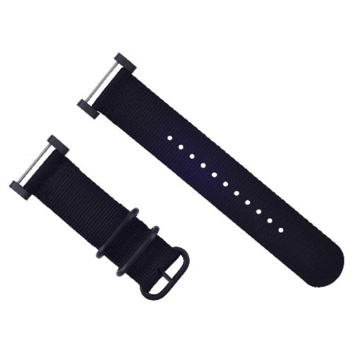 NEW SUUNTO CORE NYLON STRAP DIVER WATCH BAND LUGS ADAPTER SET BLACK PVD 3 RINGS