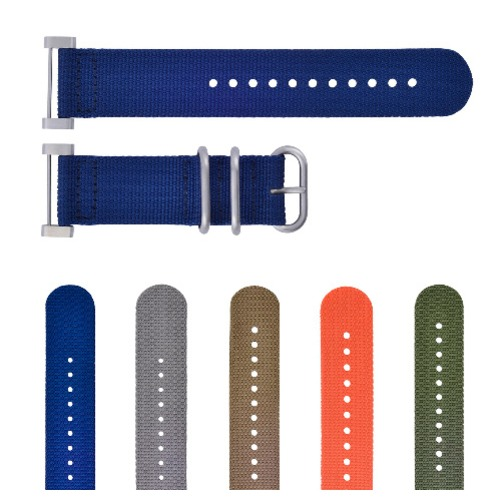 NEW SUUNTO CORE NYLON DIVER  WATCH BAND STRAP WITH LUGS ADAPTER SET 3 STEEL RING