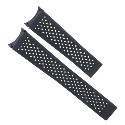 22MM SILICONE RUBBER STRAP WATCH BAND FOR TAG HEUER GRAND CARRERA CHRONOGRAPH