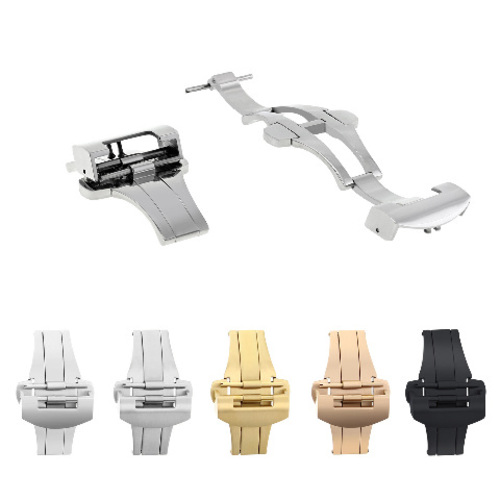 20-22MM DEPLOYMENT CLASP BAND LEATHER STRAP BUCKLE FOR PANERAI 40-44MM S/STEEL