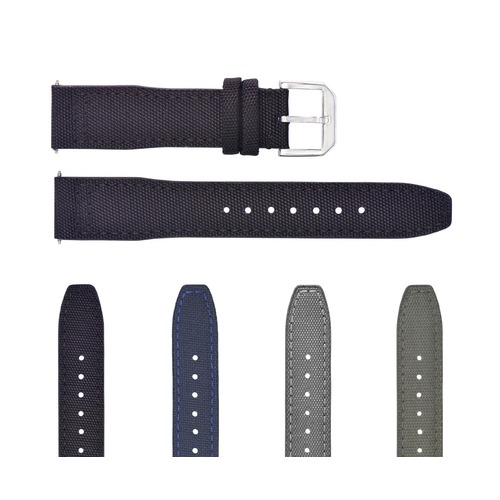 20MM CANVAS LEATHER WATCH BAND STRAP FOR IWC PILOT TOP GUN PORTUGUESE + BUCKLE