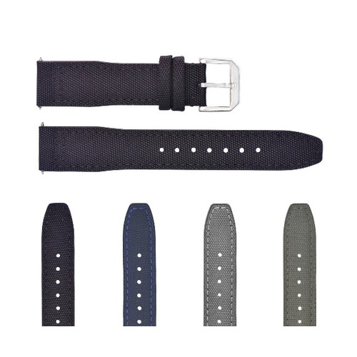 20-22MM CANVAS LEATHER WATCH BAND STRAP FOR IWC PILOT TOP GUN PORTUGUESE + BUCKLE