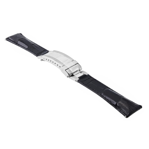 20MM LEATHER WATCH BAND STRAP FOR ROLEX DATEJUST SUBMARINER GMT EXPLORER