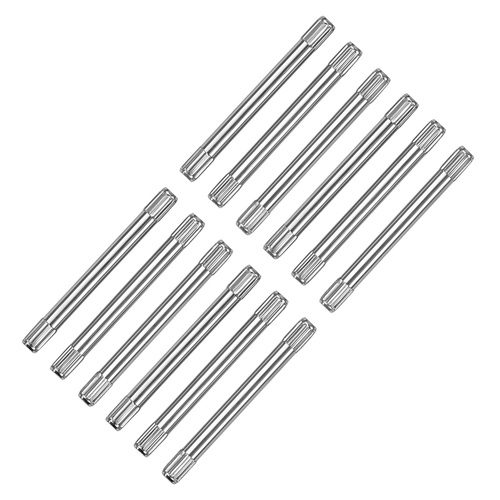 10 PCS 1MM KNURLED PIN FOR WATCH BAND BRACELET STAINLESS STEEL 14MM