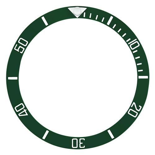 BEZEL INSERT CERAMIC FOR ROLEX SUBMARINER KERMIT ENGRAVE 16803 16608 16613 16618