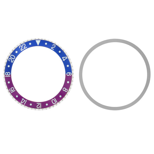 BEZEL+ INSERT + TENSION FOR ROLEX GMT 1670,1675,16750 FUCHSIA BLUE RED/PINKISH