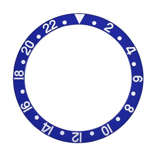 BEZEL INSERT FOR ROLEX GMT II FAT FONT FOR 16700, 16713, 16760, 16718 BLUEBERRY