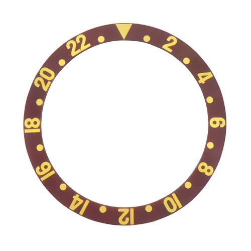 BEZEL INSERT FOR ROLEX GMT FAT FONT FOR 16700, 16713, 16760, 16718 GMT II BROWN