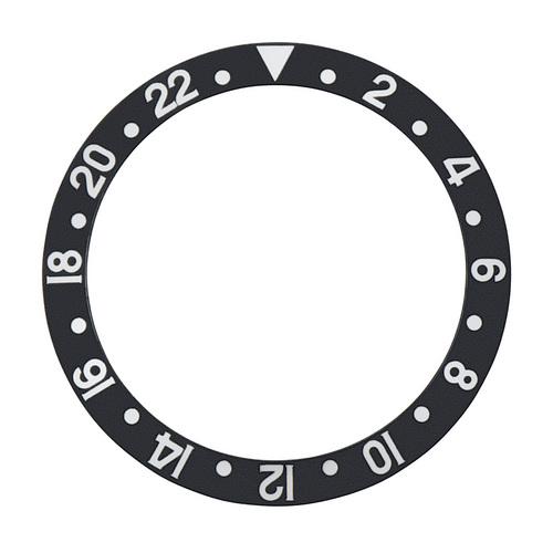 BEZEL INSERT FOR VINTAGE ROLEX GMT FAT FONT 1670 1675 16750 16753 16758 BLACK